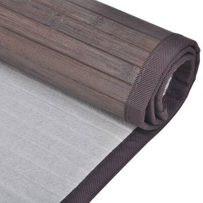 vidaXL bademåtter 2 stk. 60 x 90 cm bambus mørkebrun