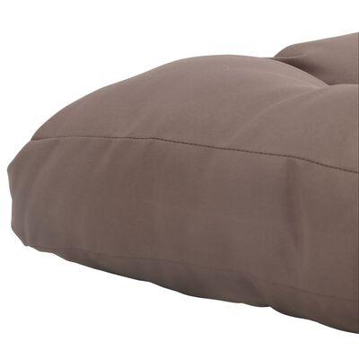 vidaXL udendørs sædehynde 80 x 80 x 10 cm stof gråbrun