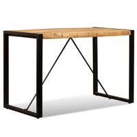 vidaXL spisebord i massivt ru mangotræ 120 cm