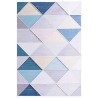 vidaXL gulvtæppe med tryk 140x200 cm stof flerfarvet