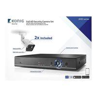 CCTV Sæt - Full HD DVR, 1TB HDD, 2x Overvågningskameraer