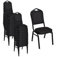 vidaXL spisebordsstole 20 stk. stof sort