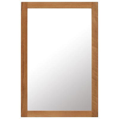 vidaXL spejl 60 x 90 cm massivt egetræ