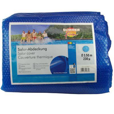 Summer Fun solopvarmet poolovertræk 350 cm rundt PE blå