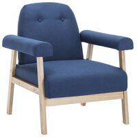 vidaXL lænestol stof blå