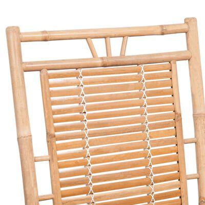 vidaXL gyngestol med hynde bambus