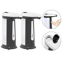 vidaXL automatiske sæbedispensere 2 stk. infrarød sensor 800 ml klokke