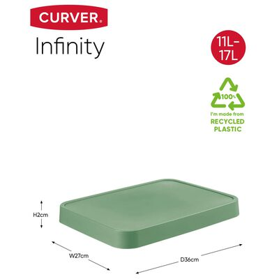 Curver opbevaringskurv med låg Infinity 4 stk. 4,5 l + 11 l grøn