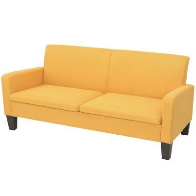 vidaXL 3-personers sofa 180 x 65 x 76 cm gul