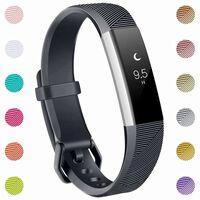 Fitbit Alta/Alta HR armbånd silikone - 3-pak (S) - sort/grå/blå