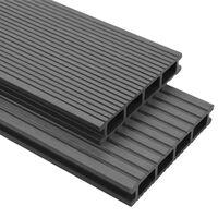 vidaXL WPC-terrassebrædder med tilbehør 20 m² 4 m grå