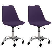 vidaXL kontorstole 2 stk. kunstlæder lilla