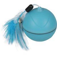 FLAMINGO 2-i-1 LED-legetøjsbold Magic Mechta 7 cm blå