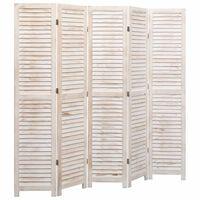 vidaXL 5-panels rumdeler 175 x 165 cm træ hvid