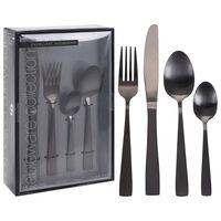 Excellent Houseware bestiksæt i 16 dele rustfrit stål sort