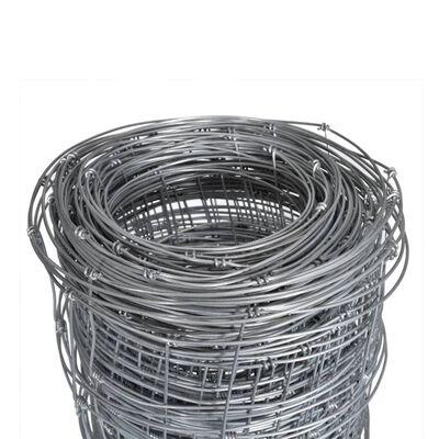 vidaXL havehegn 50x1 m galvaniseret stål sølvfarvet
