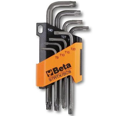 """Beta Tools 8 stk. torxnøgle """"97RTX/SC8"""" stål 000970263"""