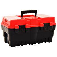 vidaXL værktøjskasse 462x256x242 mm plastik rød