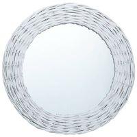 vidaXL spejl 50 cm flet hvid
