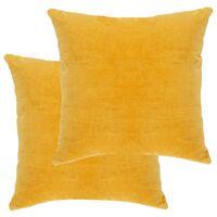 vidaXL puder 2 stk. bomuldsfløjl 45 x 45 cm gul