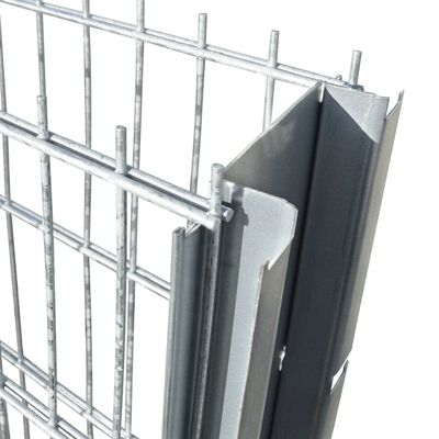 vidaXL 2D gabionhegn galvaniseret stål 2,008x1,03 m 2 m sølvfarvet