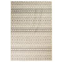 vidaXL moderne tæppe traditionelt design 80 x 150 cm beige/grå