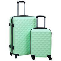 vidaXL kuffertsæt 2 stk. hardcase ABS mintgrøn