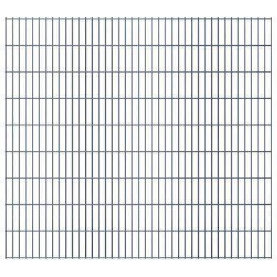 vidaXL havehegnspaneler 2D 2,008x1,83 m 16 m (total længde) grå