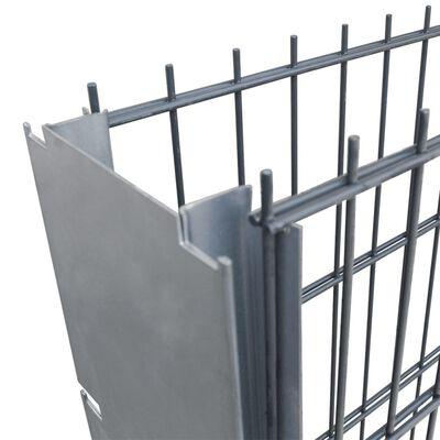 vidaXL 2D gabionhegnssæt galvaniseret stål 2,008x1,03 m 2 m grå