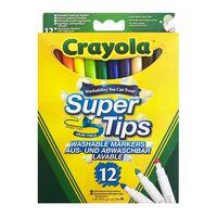 Crayola, 12x Tuschpenne - Super Tips