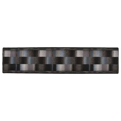 vidaXL tæppeløber 67x300 cm gelunderside sort