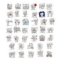 40x Klistermærker - Kærlighed