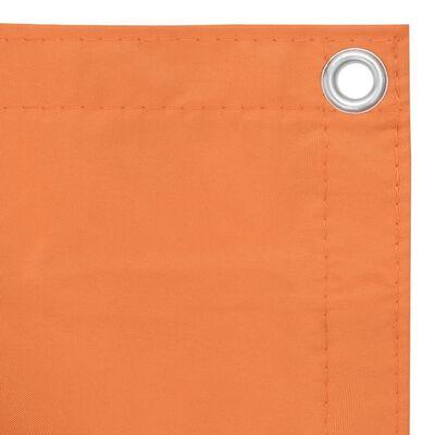vidaXL altanafskærmning 75x600 cm oxfordstof orange