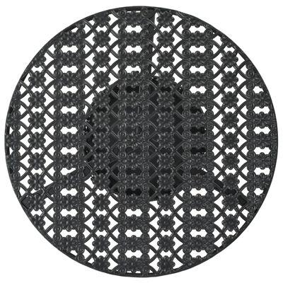 vidaXL bistrobord 40 x 70 cm metal sort