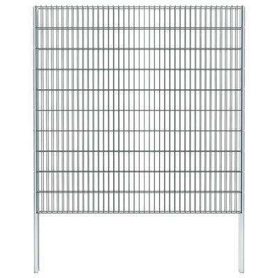 vidaXL 2D gabionhegn galvaniseret stål 2,008x2,03 m 2 m grå