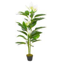 vidaXL kunstig plante  anthurium med urtpotte hvid 155 cm