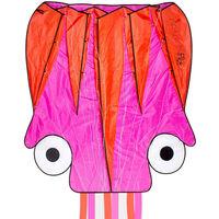 Dragon Fly blækspruttedrage 124 x 127 cm pink og orange