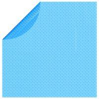 vidaXL flydende soldrevet PE-poolovertræk rundt 381 cm blå