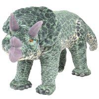 vidaXL stående plyslegetøj triceratops dinosaur grøn XXL