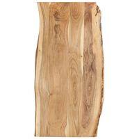 vidaXL bordplade 120x(50-60)x2,5 cm massivt akacietræ