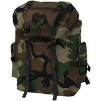 vidaXL Militærinspireret rygsæk 65 l camouflage