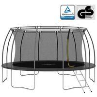 vidaXL trampolinsæt rund 488x90 cm 150 kg
