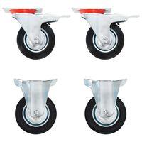 vidaXL hjul 12 stk. 100 mm