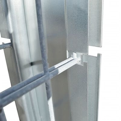vidaXL 2D gabionhegn galvaniseret stål 2,008x1,63 m 6 m sølvfarvet