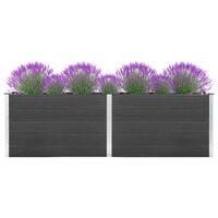 vidaXL hævet plantekasse 300x100x91 cm WPC grå