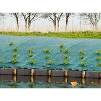 Toile de paillage paysage verte en polypropylène tissé 90gr/m² 2,1x25m