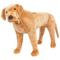 vidaXL stående legetøjhund plys labrador lysebrun XXL