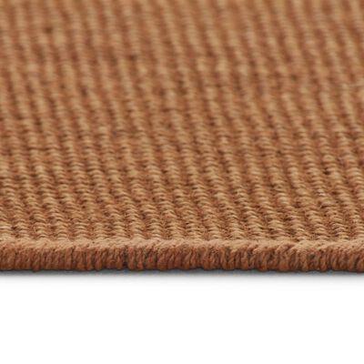 vidaXL jutetæppe med latexunderside 140 x 200 cm brun