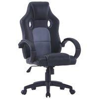 vidaXL gamingstol kunstlæder grå