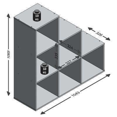 FMD rumdeler med 6 rum hvid